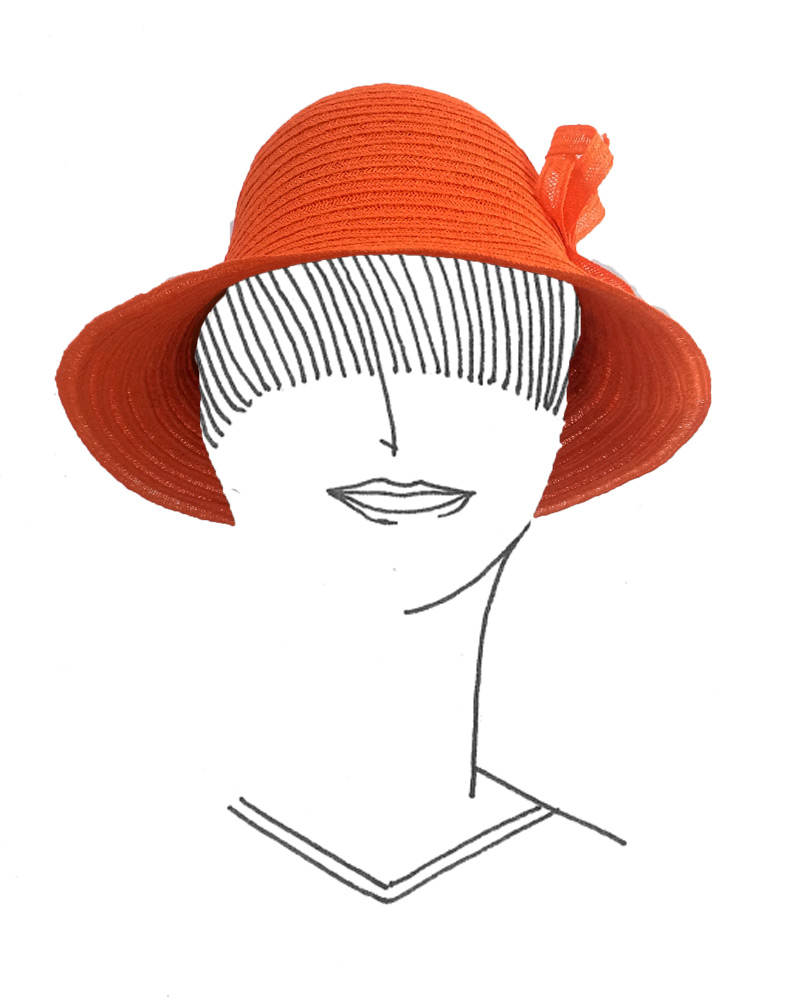 Chapeau en gallon de sisal cousu machine