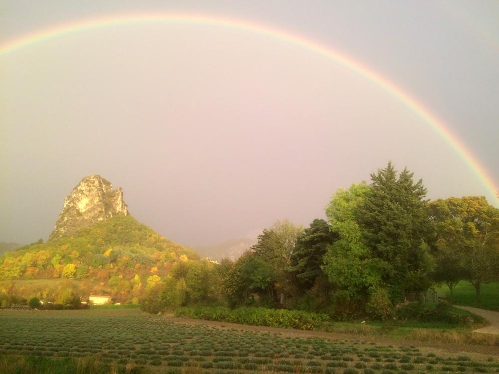 Le roc de Saoû, dans la Drôme