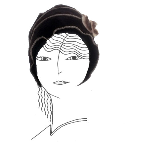 Bonnet en angora marron